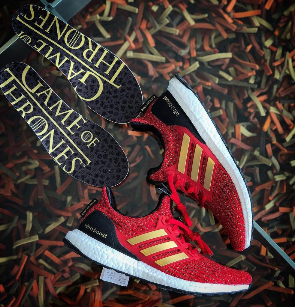 game of throne adidas ultraboost house lannister hear me roar