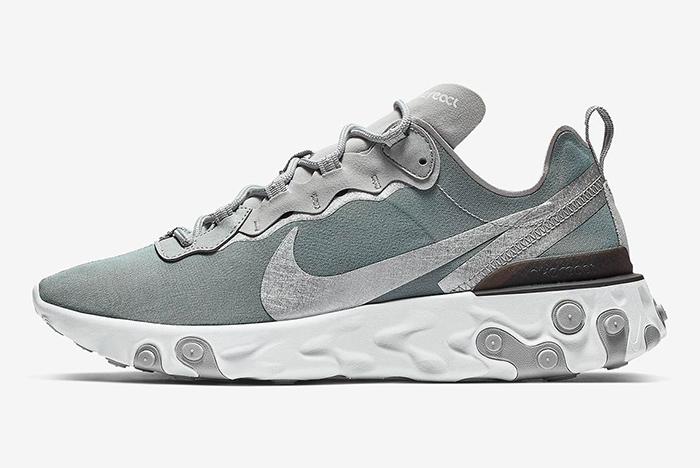 Nike React Element 55 Metallic Silver