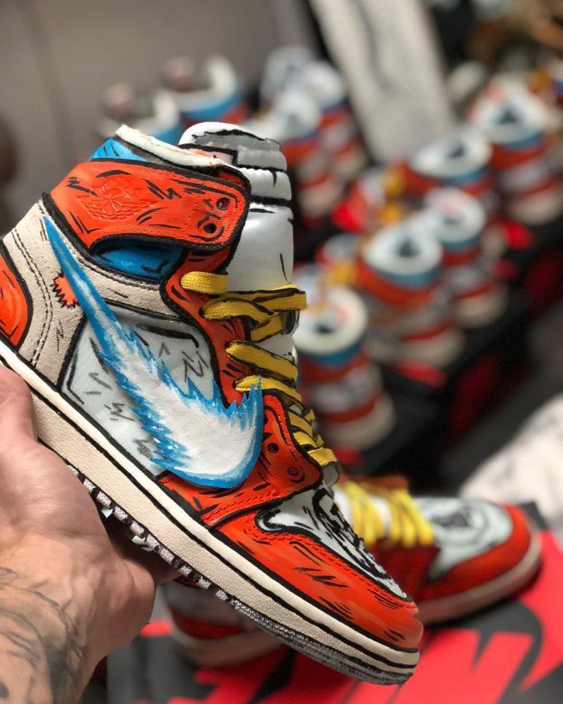 Air Jordan 1 Goku Custom sneaker from stomping Ground