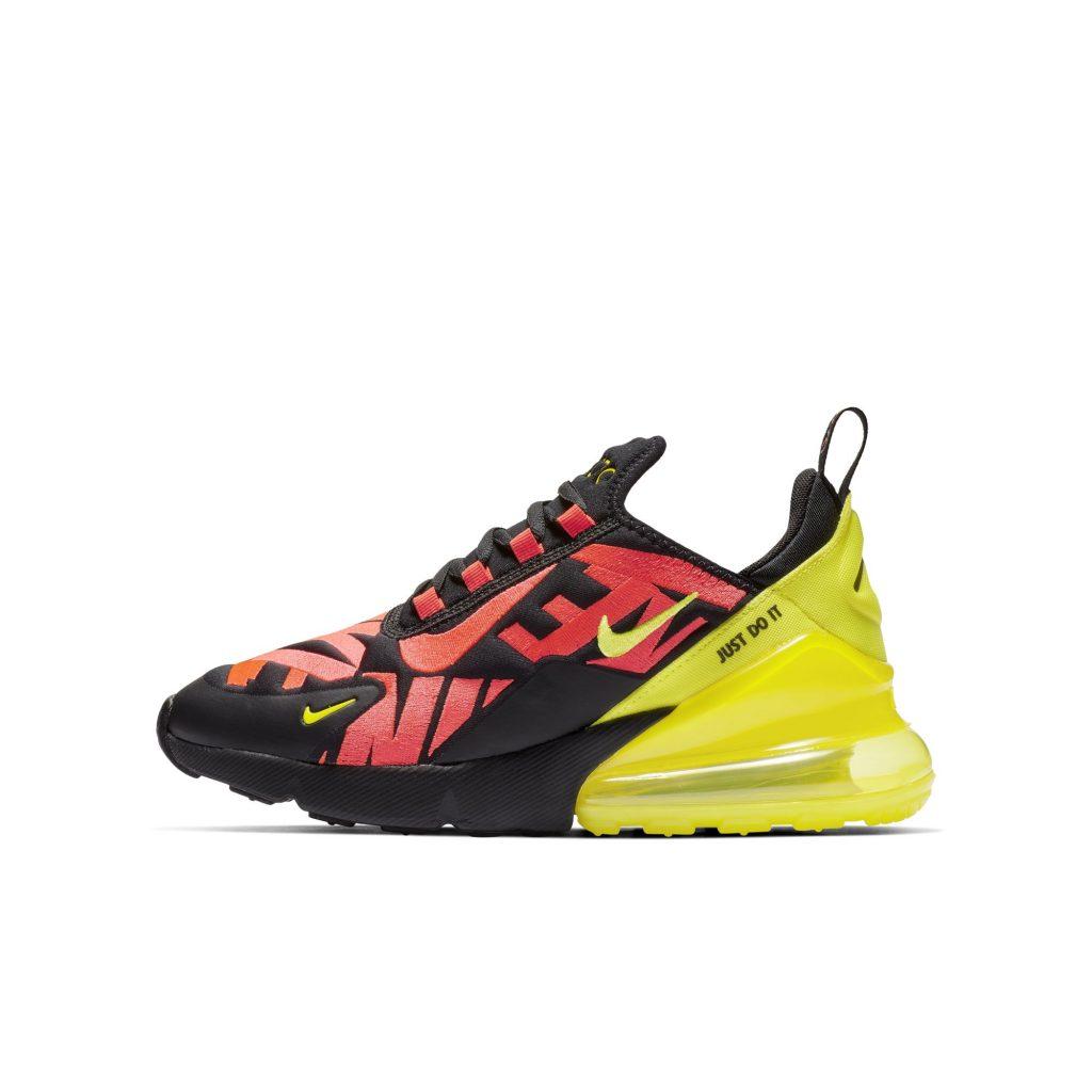 Nike AirMax 270 BG Yellow Bright Crimson