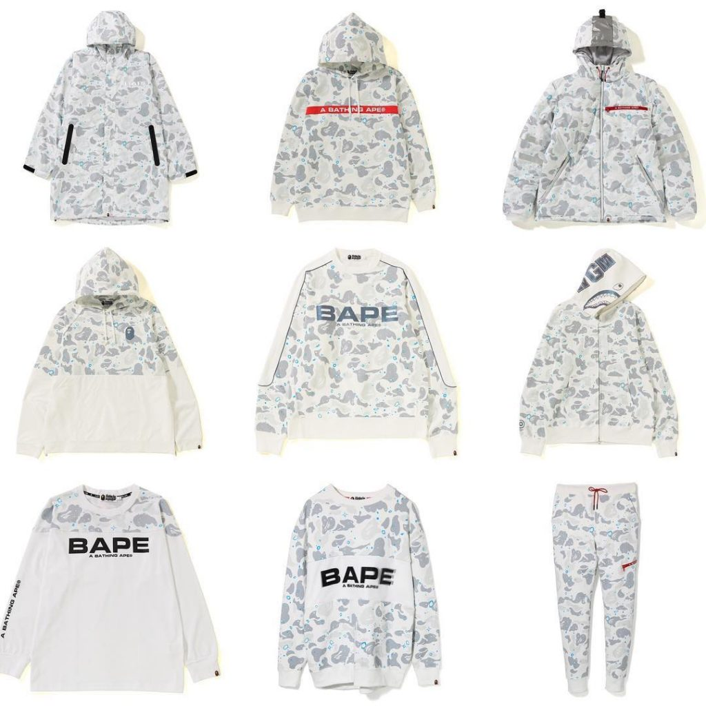 Bape space camo white